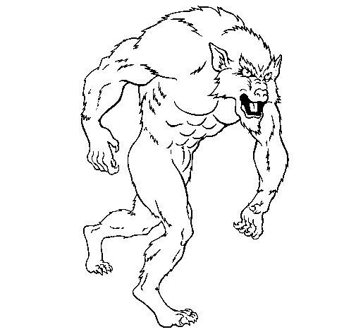 Dibujo de Hombre lobo para Colorear - Dibujos.net