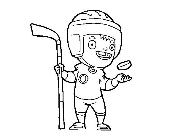 Dibujo de Hoquei sobre hielo para Colorear - Dibujos.net