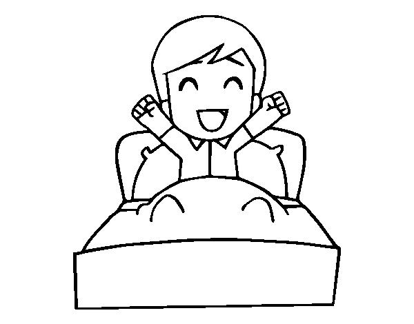 Dibujo De Hora De Levantarse Para Colorear Dibujosnet
