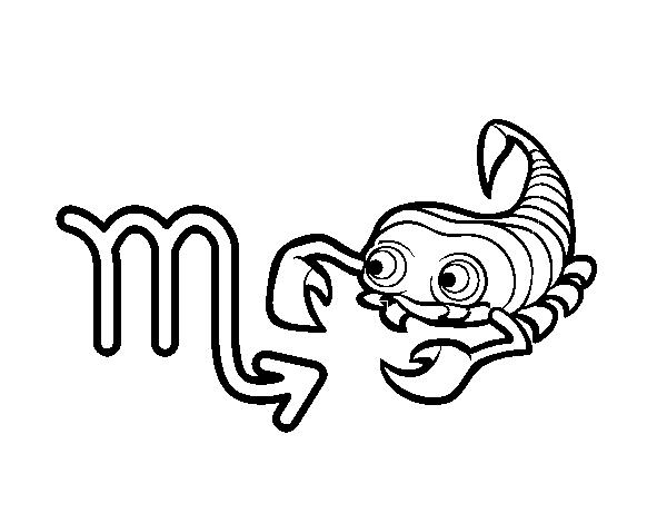 Dibujo De Horóscopo Escorpio Para Colorear Dibujosnet