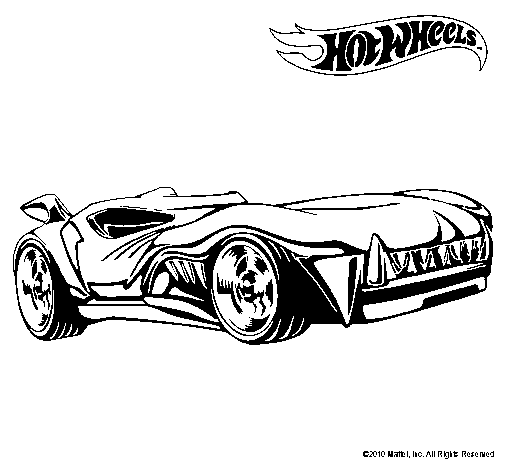 Dibujo de Hot Wheels 3 para Colorear - Dibujos.net