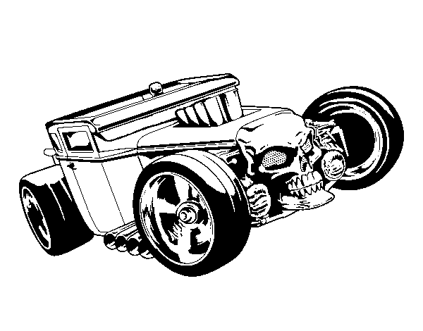 Dibujo de Hot Wheels Bone Shaker para Colorear - Dibujos.net