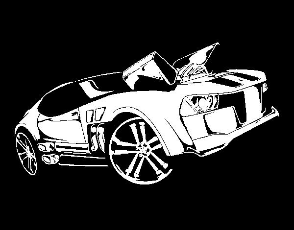 Dibujo de Hot Wheels Twinduction para Colorear - Dibujos.net