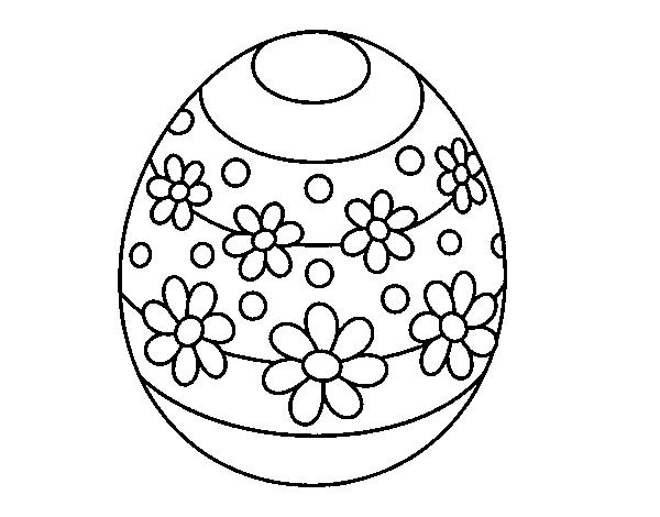 Dibujo de Huevo de Pascua de primavera para Colorear - Dibujos.net