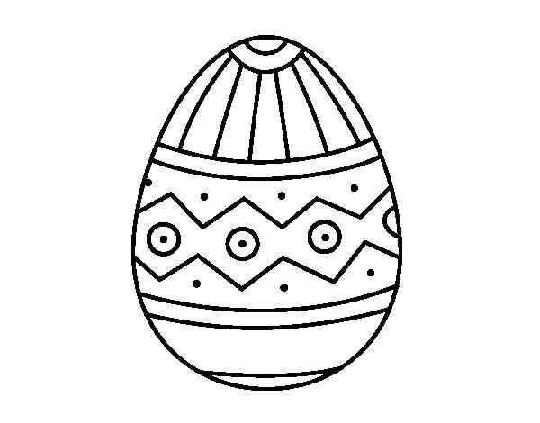 Dibujo De Huevo De Pascua Estampado Para Colorear Dibujosnet