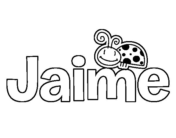 Dibujo de Jaime para Colorear - Dibujos.net