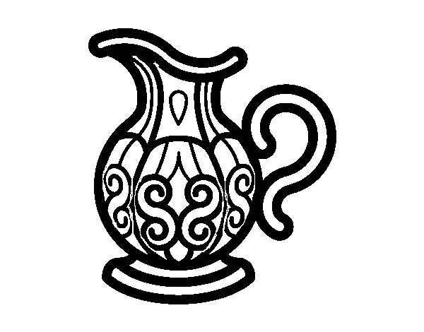 Dibujo de Jarra de agua para Colorear - Dibujos.net
