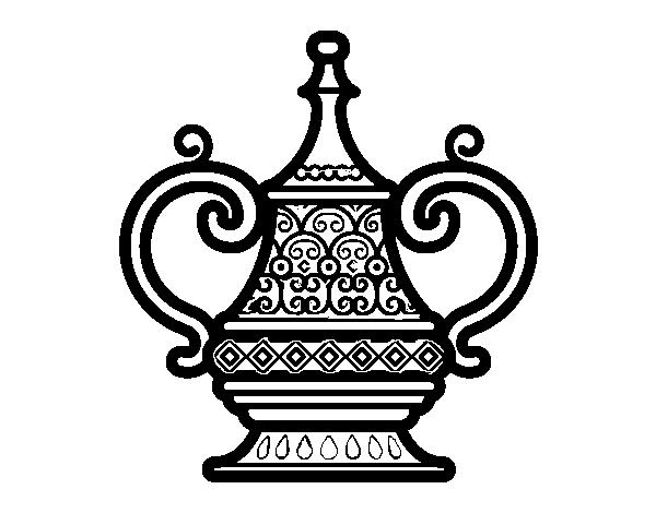 Dibujo de Jarrón Árabe para Colorear - Dibujos.net