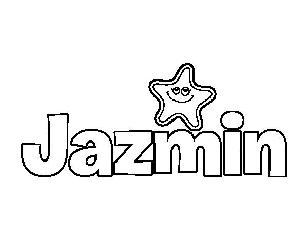 Dibujo De Jazmin Para Colorear Dibujosnet