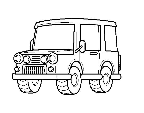 Dibujo de jeep todoterreno para colorear for Jeep da colorare