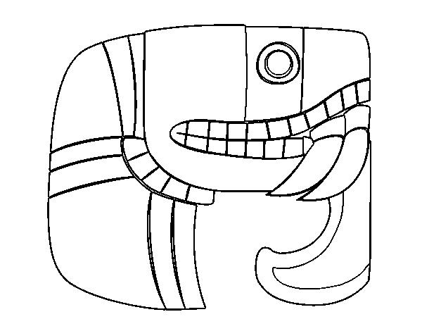 Dibujo de Jeroglífico maya para Colorear - Dibujos.net