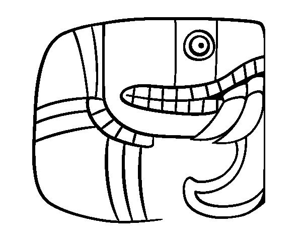 Dibujo De Jeroglífico Maya Para Colorear Dibujosnet