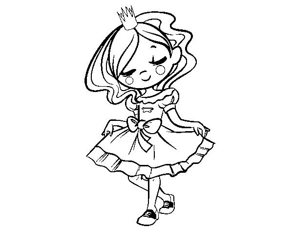 Dibujo de Joven princesa para Colorear - Dibujos.net