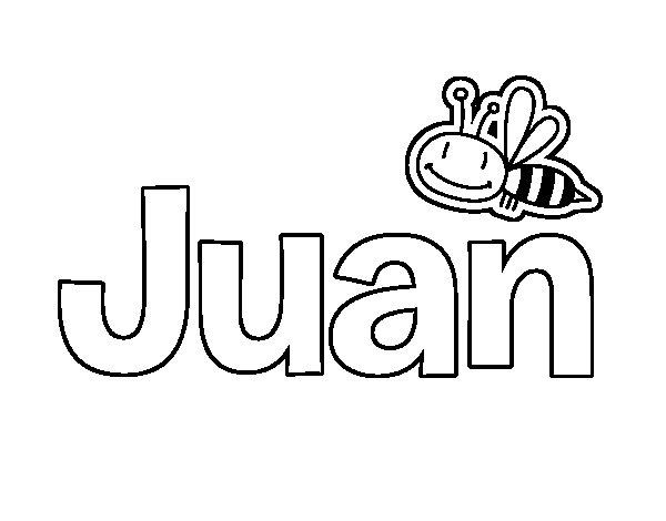 Dibujo De Juan Para Colorear