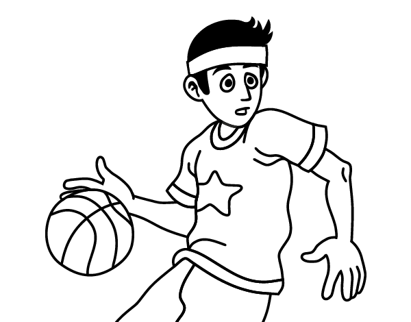 Dibujo de Jugador de básquet junior para Colorear - Dibujos.net
