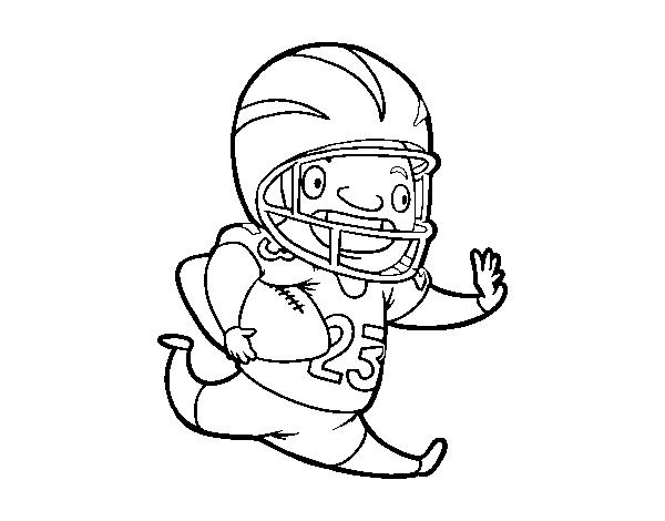 Dibujo De Jugador De Fútbol Americano Para Colorear Dibujosnet