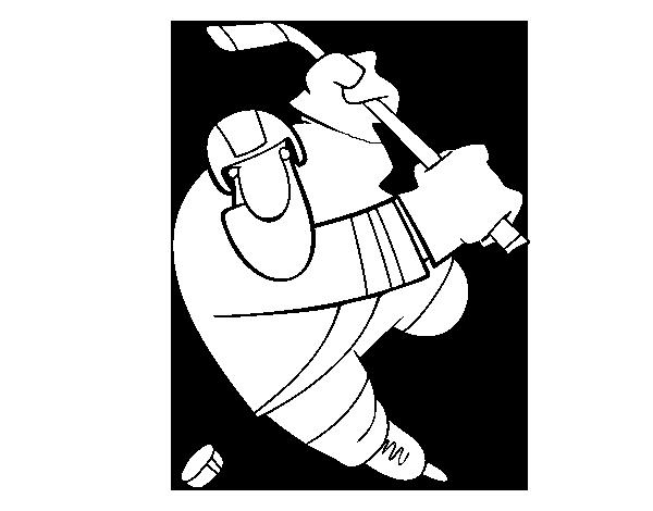 Dibujos Para Colorear Jugador De Hockey