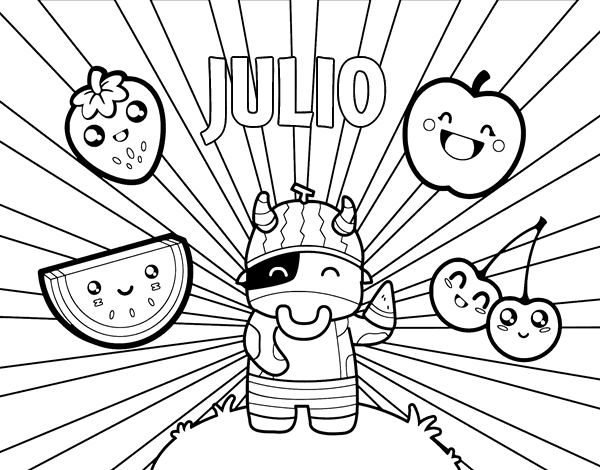 Dibujo de Julio para Colorear - Dibujos.net