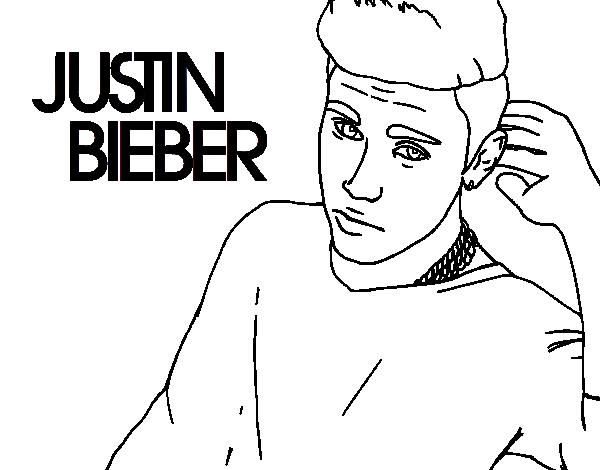 Dibujo de Justin Bieber estrella del POP para Colorear - Dibujos.net