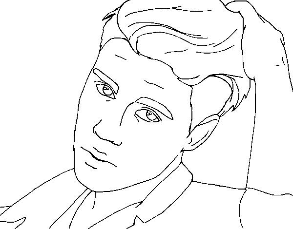 Dibujo de Justin Bieber primer plano para Colorear - Dibujos.net