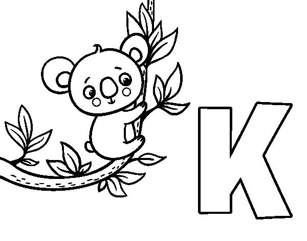 Famoso Letra K Para Colorear Páginas Duras Elaboración - Páginas ...