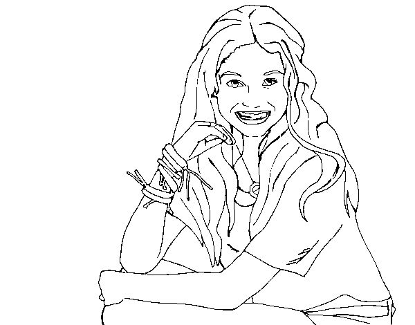Dibujo De Karol Sevilla De Soy Luna Para Colorear Dibujosnet