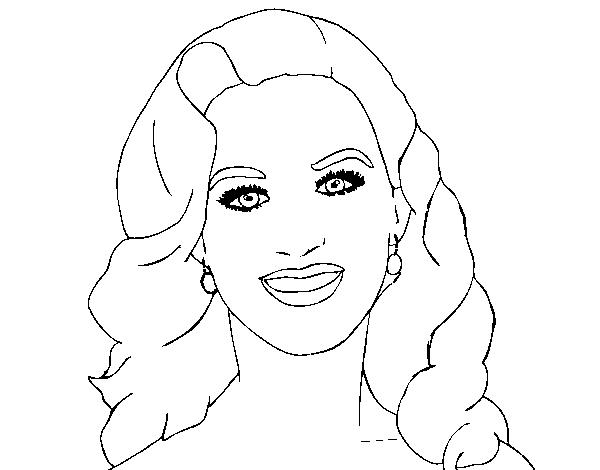 Dibujo de Katy Perry primer plano para Colorear - Dibujos.net