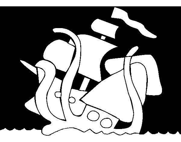 Dibujo De Kraken Para Colorear Dibujosnet