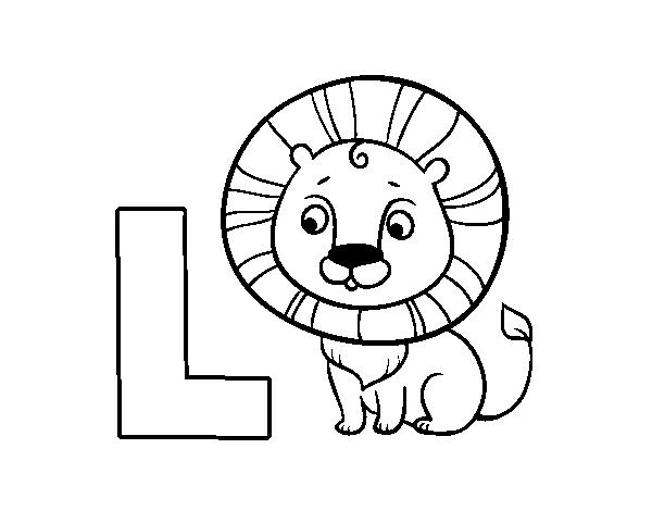 Dibujo de L de León para Colorear - Dibujos.net
