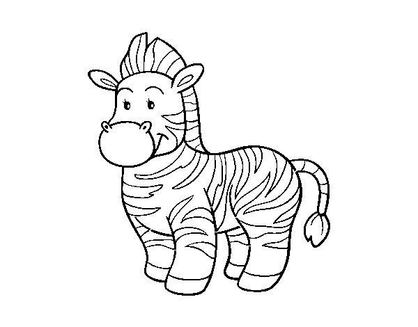 Dibujo De La Cebra Para Colorear Dibujosnet