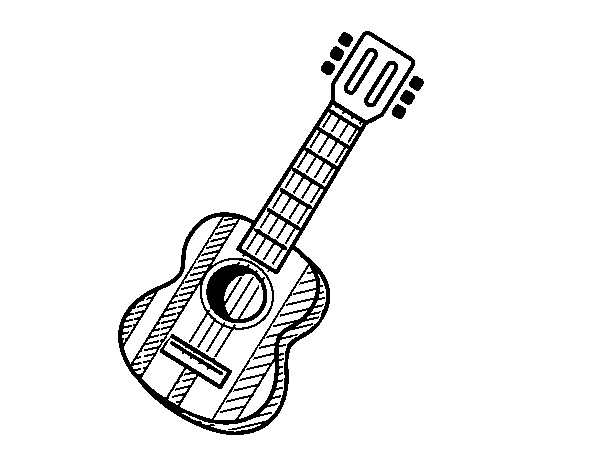 Dibujo De La Guitarra Española Para Colorear Dibujosnet