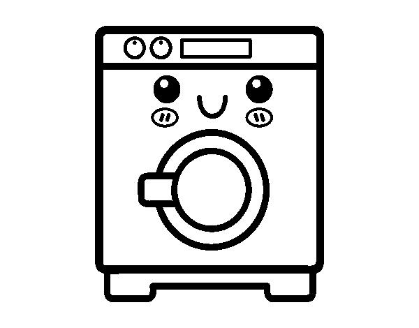 Dibujo De Lavadora Para Colorear Dibujosnet