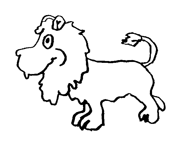 Dibujo de León de perfil para Colorear - Dibujos.net