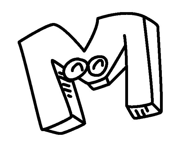 Dibujo De Letra M Para Colorear Dibujosnet
