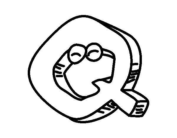 Dibujo De Letra Q Para Colorear Dibujosnet