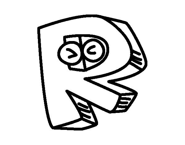 Dibujo de Letra R para Colorear - Dibujos.net