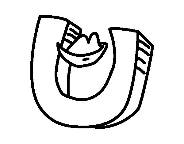 Dibujo de Letra U para Colorear - Dibujos.net