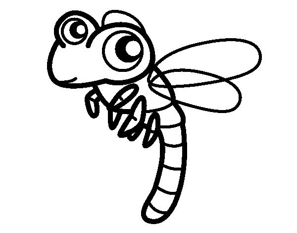 Dibujo de Libélula volando para Colorear - Dibujos.net