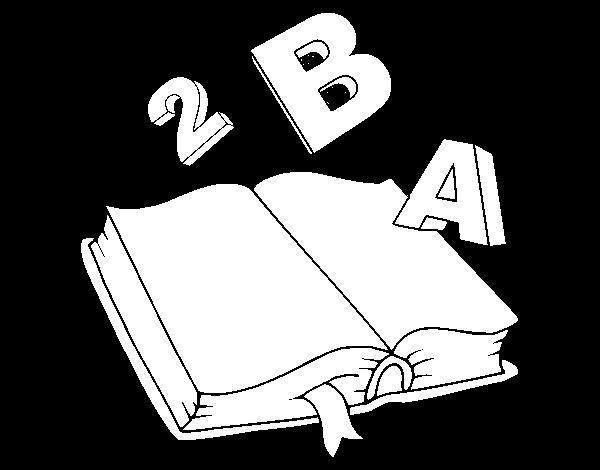 Dibujo de Libro animado para Colorear - Dibujos.net