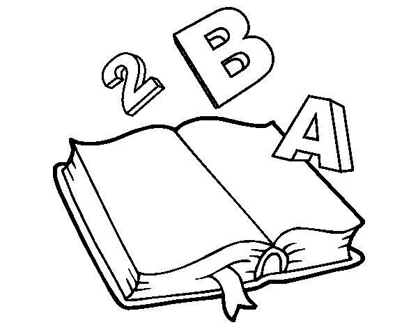 Dibujo de Libro animado para Colorear   Dibujos.net