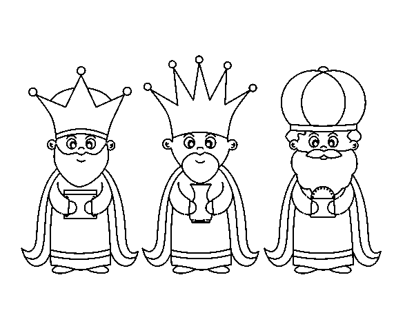 Dibujo De Los 3 Reyes Magos Para Colorear Dibujosnet