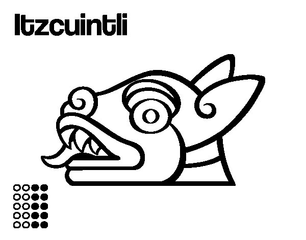 Dibujo de Los días aztecas: el perro Itzcuintli para Colorear ...