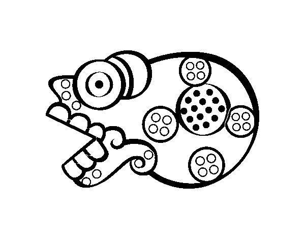 Dibujo De Los Días Aztecas La Muerte Miquiztli Para Colorear
