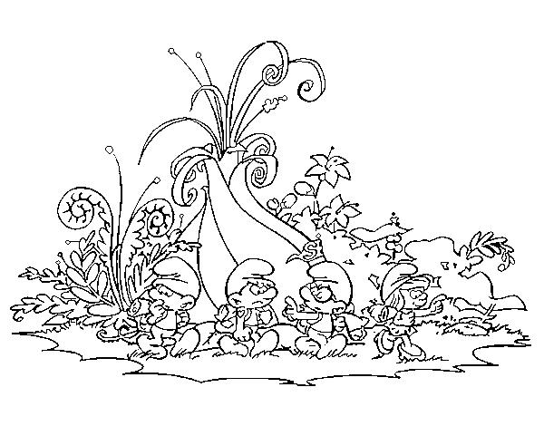 Dibujo de Los Pitufos: La aldea escondida para Colorear   Dibujos.net