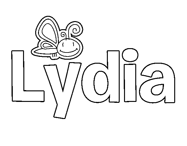 Dibujo de Lydia para Colorear - Dibujos.net