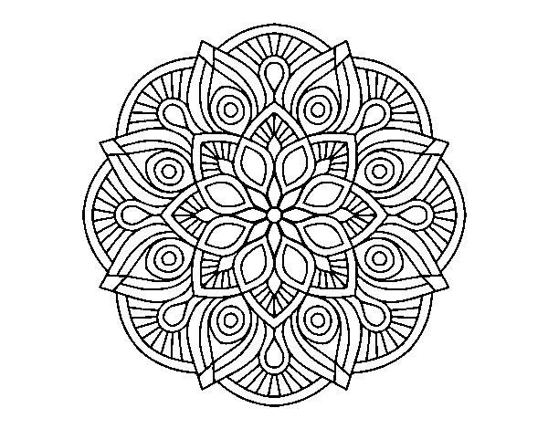 Dibujo De Mandala Alhambra Para Colorear Dibujos Net