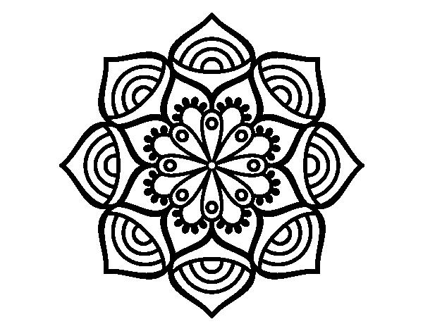 Dibujos De Mandalas: Dibujo De Mandala Crecimiento Exponencial Para Colorear
