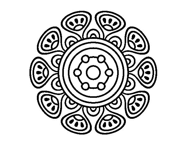Dibujos De Mandalas: Dibujo De Mandala Crecimiento Vegetal Para Colorear