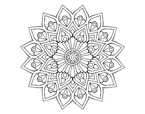 Mandalas Para Colorear Online Mandalas Para Descargar: Dibujo De Mandala Destello Creciente Para Colorear