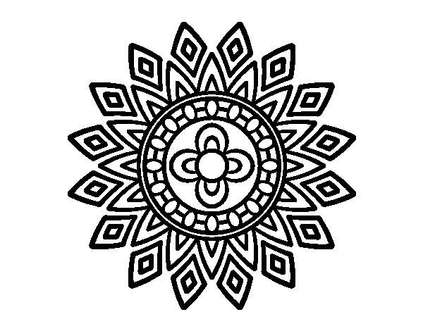 Mandala Para Colorear Mandalas Para Mandalas Para Colorear: Dibujo De Mandala Destellos Para Colorear